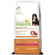 NATURAL TRAINER Sensitive Medium/Maxi Puppy Duck (buvęs TRAINER FITNESS Medium/Maxi Puppy Duck-Antiena)