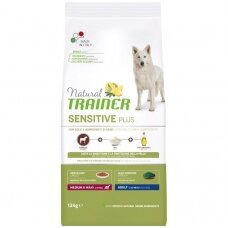 NATURAL TRAINER Sensitive Plus Medium/Maxi Adult Horse (buvęs TRAINER FITNESS Medium/Maxi Adult Horse-Arkliena)