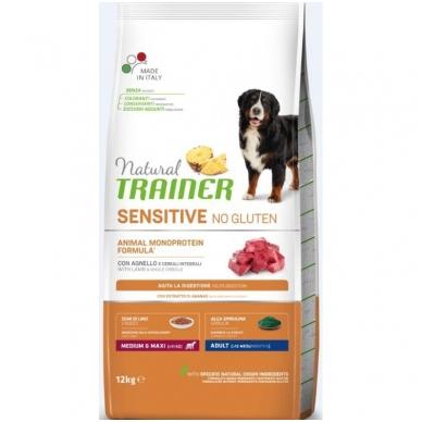 NATURAL TRAINER Sensitive Medium/Maxi Adult Lamb (buvęs TRAINER FITNESS Medium/Maxi Adult Lamb-Ėriena)
