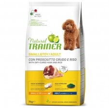 Trainer Natural Small&Toy Adult with Dry Cured Ham (su kumpiu)