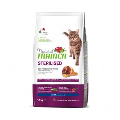 TRAINER NATURAL Cat adult with Dry-Cured Ham (su vytintu kumpiu)