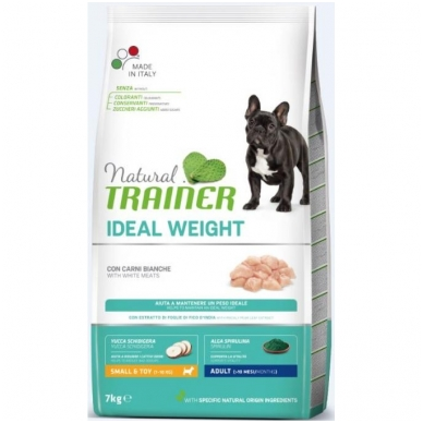 NATURAL TRAINER Mini Adult Ideal Weight White Meat (su balta mėsa)